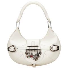 Jimmy Choo White Leather Charm Handbag