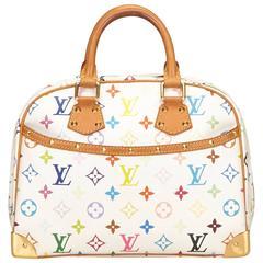 Louis Vuitton White Trouville Bag Multicolore