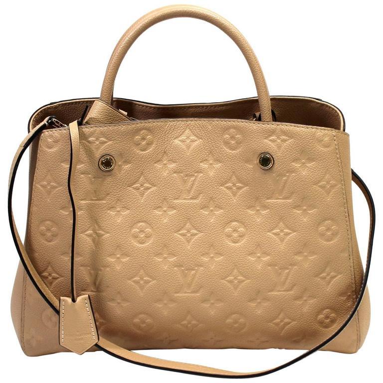 Louis Vuitton Dune Monogram Empreinte Leather Montaigne MM Bag 1