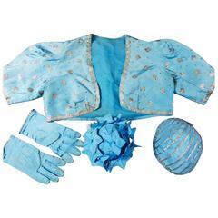Jeanne Lanvin Haute Couture Boléro Reticule gloves and Bibi, 1940s