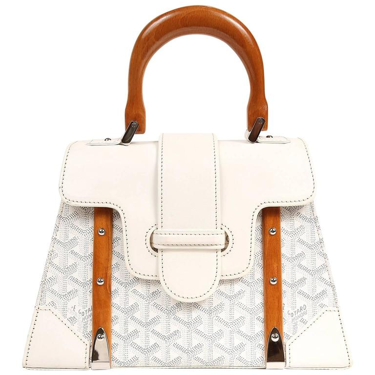 Goyard White Saigon PM Bag 1
