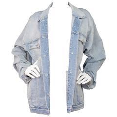 Stella McCartney Star Denim Jacket Sz IT46 rt $985
