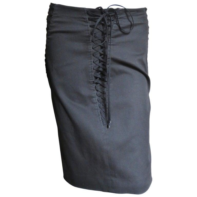 Dolce & Gabbana Lace Up Skirt