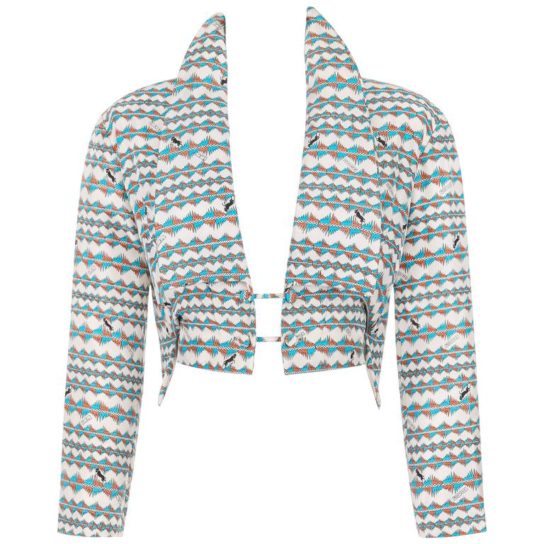 """EMILIO PUCCI S/S 1957 """"Palio"""" Silk Multicolor """"Montone"""" Signature Print Jacket"""