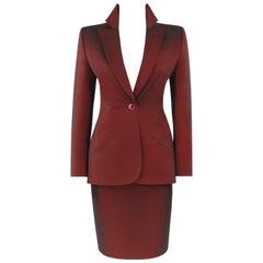 GIVENCHY Couture S/S 1998 ALEXANDER McQUEEN 3 Piece Suit Jacket Skirt Pant Set