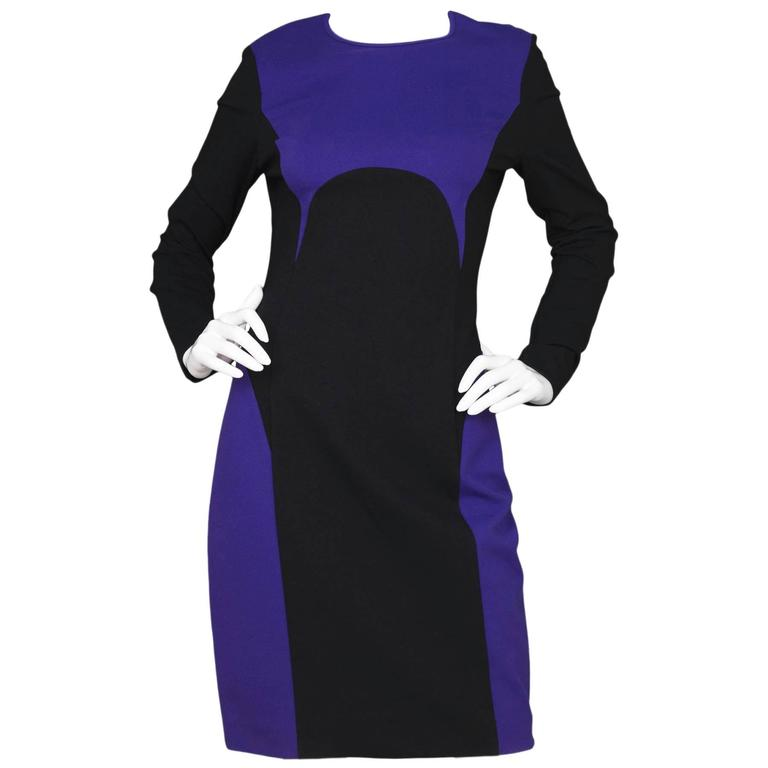 Michael Kors Purple & Black Sheath Dress sz US8 1