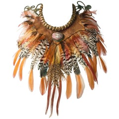 70s Alex and Lee Feathered Rope Collar