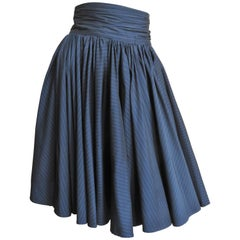1990s Jean Paul Gaultier Pinstripe Full Skirt