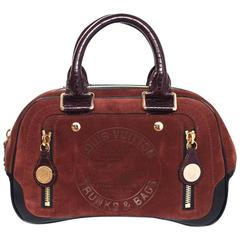 Louis Vuitton Limited Edition Rust Suede Havane Stamped Trunk PM Bowler Bag
