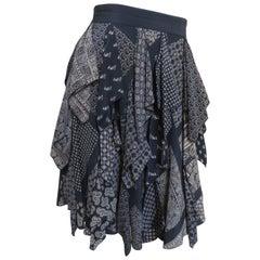 1980s Randolf Duke Vintage Scarves Silk Skirt