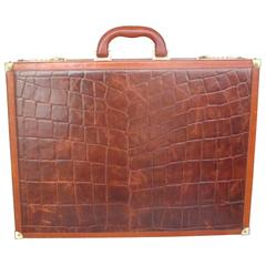 beautiful brown leather briefcase