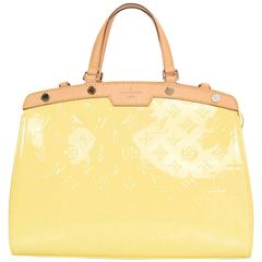 Louis Vuitton Yellow Monogram Vernis Brea MM Tote Bag