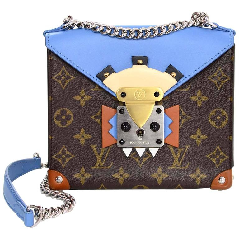 Louis Vuitton Blue and Bown Monogram Mask Pochette Crossbody Bag rt. $3,250 1