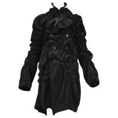 Comme des Garcons Bad Taste Black Velvet Coat 2008