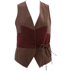 Dries Van Noten Cotton Linen Embroidered Vest, Spring/Summer 2003