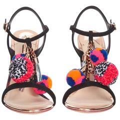 Sophia Webster NEW & SOLD OUT Multi Whimsical Charm Ball Sandals Heels in Box