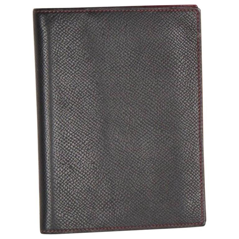 1d6469709d1 HERMES Black Leather AGENDA COVER Day Planner ORGANIZER at 1stdibs