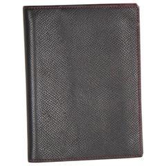 HERMES Black Leather AGENDA COVER Day Planner ORGANIZER