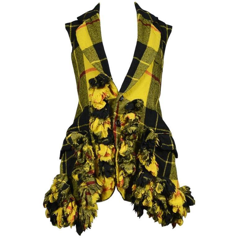Comme des Garcons Plaid Chain Vest, AW 2000