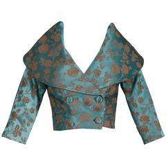1950s Blue Satin Jacket