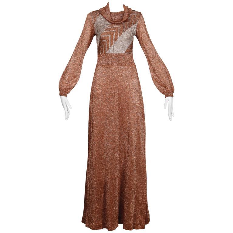 1970s Wenjilli Vintage Dress For Sale