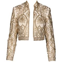 1960s Vintage Beaded + Rhinestone Jacket
