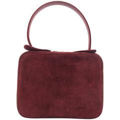 Chanel Red Suede Handbag