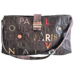 Louis Vuitton Lutece Shoulder Bag in Monograme Collage, Limited edition LV Purse