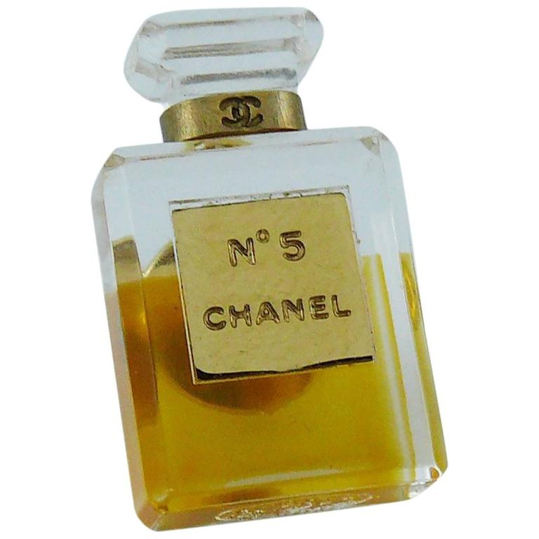 Chanel Iconic No. 5 Perfume Bottle Pin Brooch 1