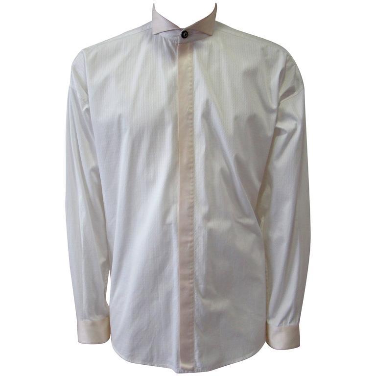 Gianni Versace Tuxedo Evening Shirt Fall 1990