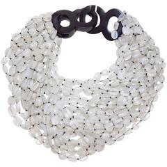 Patricia Von Musulin Rare multi strand massive necklace  with ebony clasp