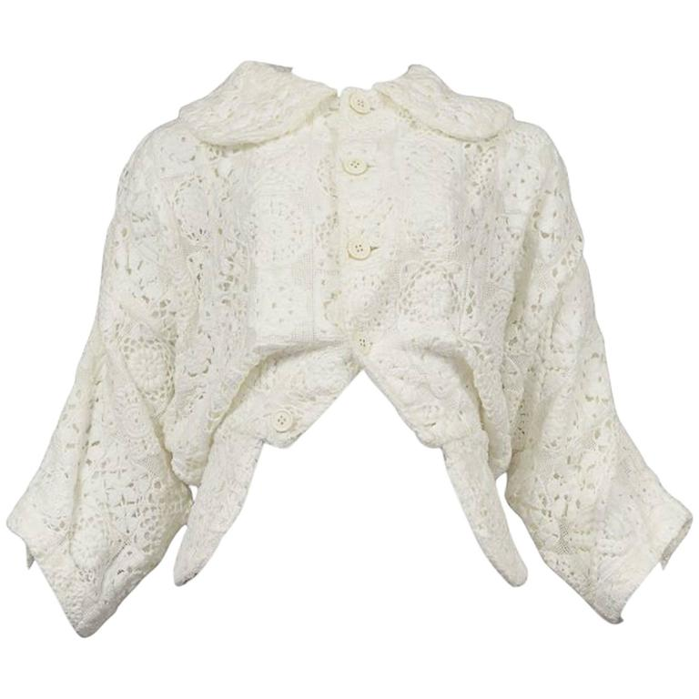 Comme des Garcons Broken Bride White Embroidered Jacket 2005