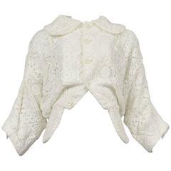Comme des Garcons Broken Bride White Embroidered Jacket 2005