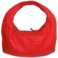 Brown Woven Leather Large Intrecciato  Bottega Veneta Hobo Shoulder Bag