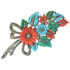 Mazer Floral Fruit Salad Spray Brooch