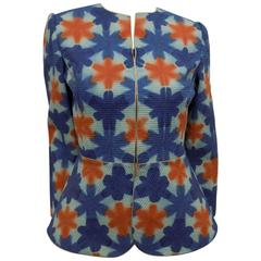 Mary McFadden Couture Tie-Dye Peplum jacket