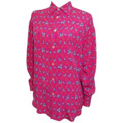 Emilio Pucci Vintage Silk print blouse Circa 1970