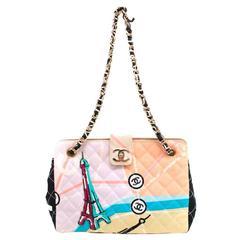 Chanel Vintage Canvas Embellished Flap Bag