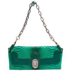 Chloe Green Python Envelope Bag