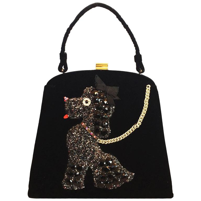 Mid Century Poodle Purse Handbag designed by Soure New York