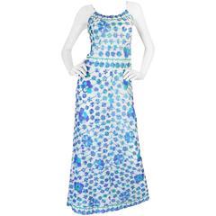 1960s Emilio Pucci Formfit Rogers Floral Print Dress Set