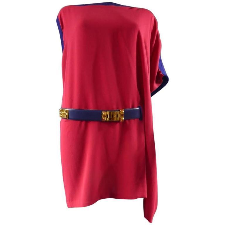 Hermès Poncho Mini Dress