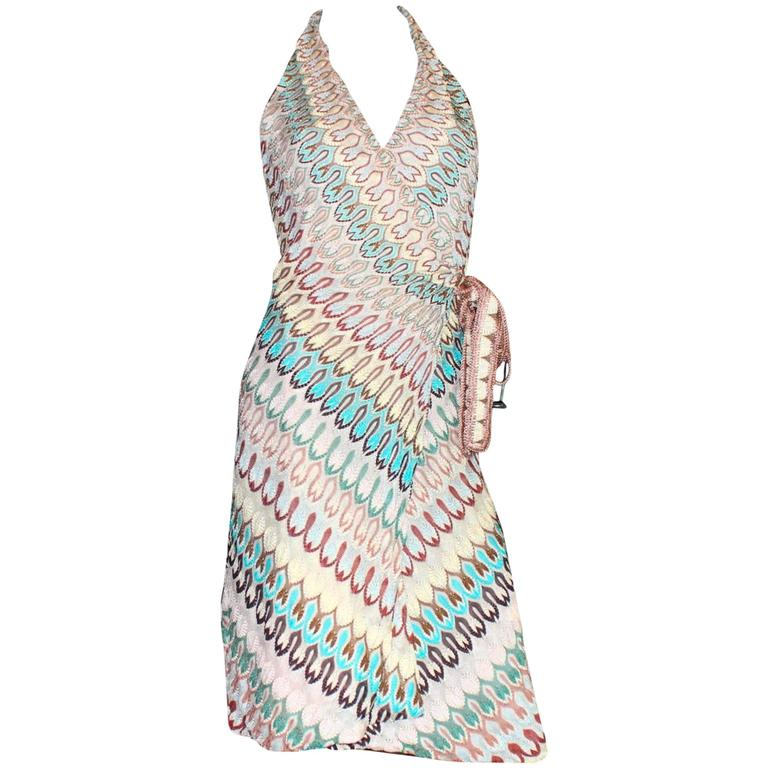 Stunning Missoni Zigzag Signature Knit Wrap Dress 1