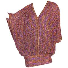 Stunning Missoni Metallic Coper Lurex Crochet Knit Kaftan Dress