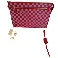 2013 Louis Vuitton Damier Couleurs Kit Clutch Piment