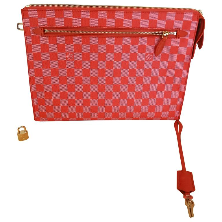 2013 Louis Vuitton Damier Couleurs Kit Clutch Piment