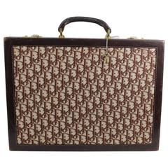 Christian Dior Vintage Briefcase / Jewlery Case in Canvas and Leather