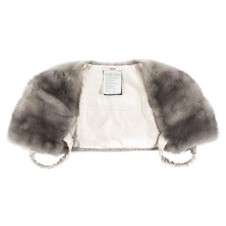 Prada 1990s grey mink fur bolero