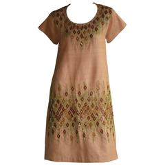 Boho vibes with this Kenzo Nude Wild Silk Embroidered Tunic