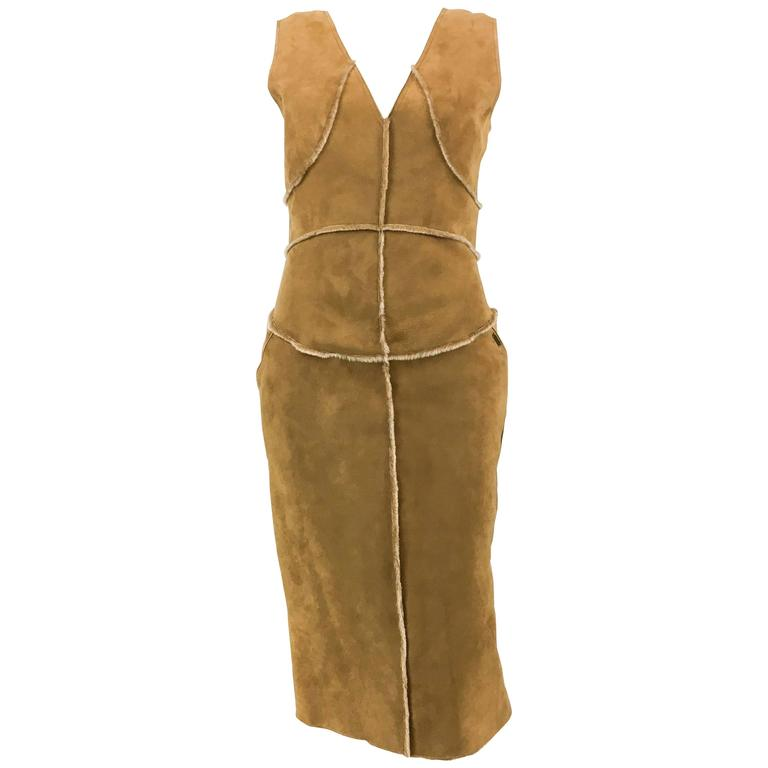 Chanel Runway Tan Sheepskin Dress, Fall/Winter 1999 1